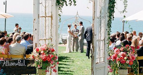 Vintage Beach Wedding Ceremony: Vintage French Doors That You Can Rent For Your Beach Side