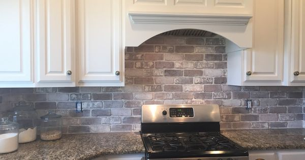 Do It Yourself Brick Veneer Backsplash Farmhouse Kitchen