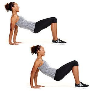 Floor Tricep Dips Superset Arm Workout Walking Exercise Celebrity Workout Routine