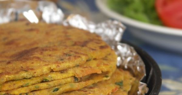 Mixed Flour & Root Vegetables Paratha/Flatbread. Easily converted to ...