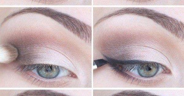 pretty cat eye makeup (using eye shadow instead of liner)