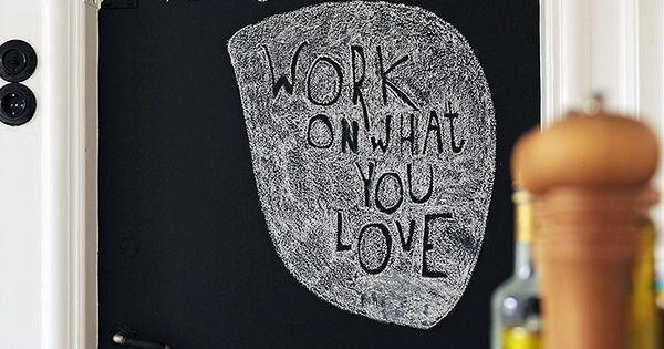 Schoolbordverf op een deur huis home pinterest schoolbord verf verf en deuren - Kwekerij verf ...