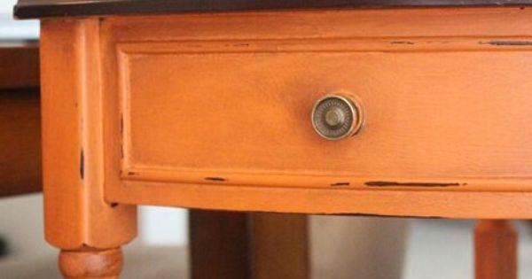 Naranja Muebles De Color Naranja Muebles Pintados De Tiza Muebles De Colores