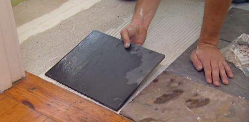 Installing Tile Over Vinyl Flooring With Images Vinyl Flooring