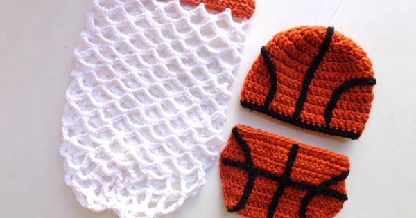 Book Cover Photography Prop : Crochet newborn basketball diaper cover pattern