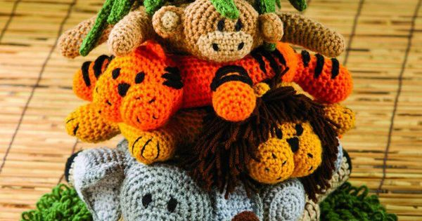 Crochet Patterns Jungle Animals : Jungle animals crocheted Knit and crochet Pinterest Jungle ...