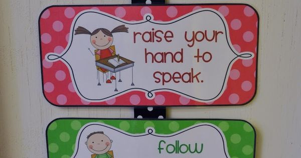 Mrs. Ricca's Kindergarten: Classroom Rules {Freebies} This might be a good way