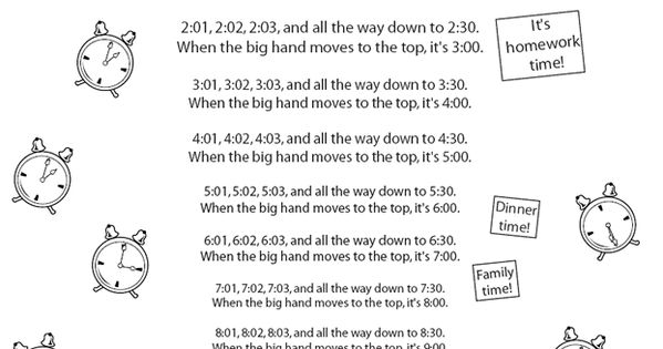 this is a song abou telling time and how a clock works it 39 s a fun way to teach something that. Black Bedroom Furniture Sets. Home Design Ideas