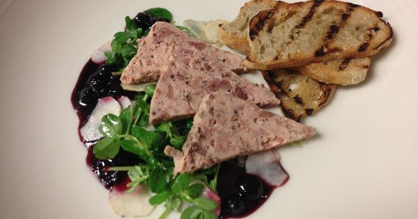 Country Pate with Sunchoke & Pea Shoot Salad, Balsamic ...