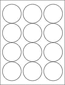 Standard White Matte 2 5 Circle Labels Mason Jars Labels