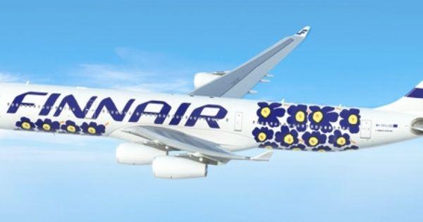 Finnair Plane Design Marimekko Aircraft Marimekko Unikko