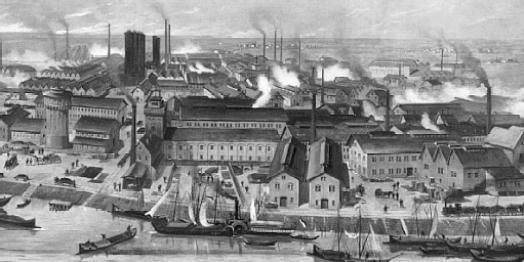 Ilustracao Que Representa O Periodo Da Revolucao Industrial A