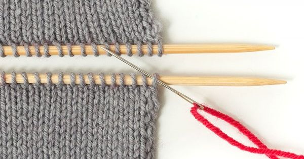 Strickteile Verbinden Teil 2 Im Maschenstich Glatt Rechte Teile Verbinden Mit Bildern Stricken Stricken Und Hakeln Fur Babys Stricken Zusammennahen
