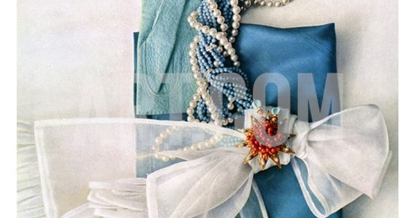 Vintage Vogue Cover ~ March 1951 A delightful arrangement of blue and