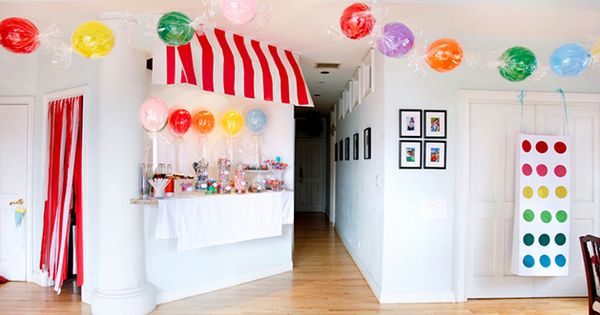 cute candy land party idea