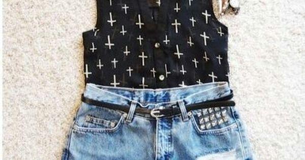 Resultado De Imagen Para Conjuntos Para Nina De 12 Anos Jean Short Outfits Fashion Outfits