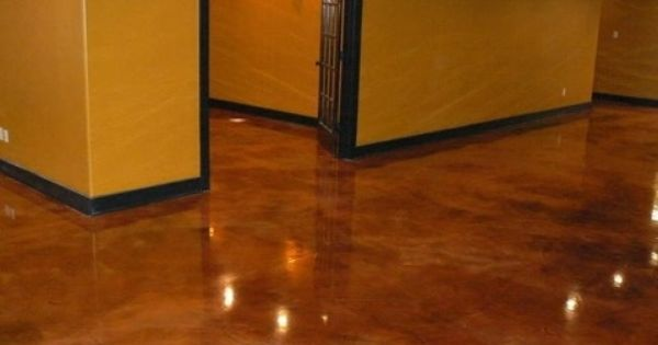 I Have This Shade Of Epoxy Floors In My Kitchen And Love It Flooring Unique Flooring Concrete Stained Floors