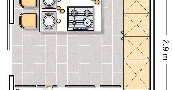 Doce cocinas con barra y sus planos planos de cocinas for Planos para cocinas pequenas
