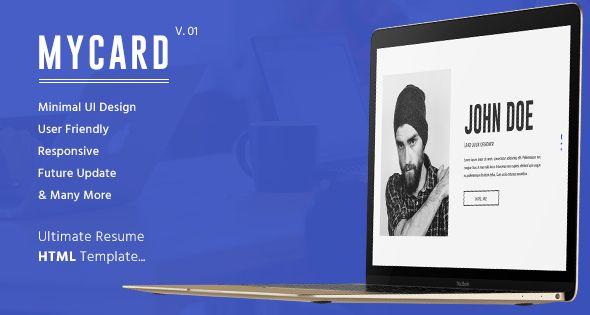 awesome MyCard Ultimate Resume HTML Template (Virtual Small - resume html template