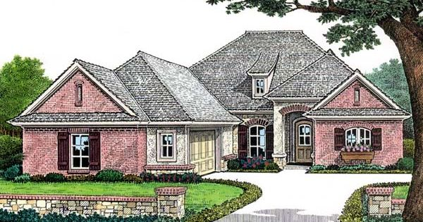 One Story Style House Plan 66156 With 3 Bed 2 Bath 2 Car Garage In 2020 House Plans Great Rooms French Country House Plans