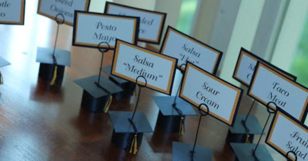 Home For The Seasons Graduation Cap Place Card Holders Place Card Holders Graduation Diy Graduation Tables