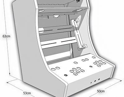 kit bois polycarbonate pour auto construction d 39 un bartop 2 joueurs bartop arcade design. Black Bedroom Furniture Sets. Home Design Ideas