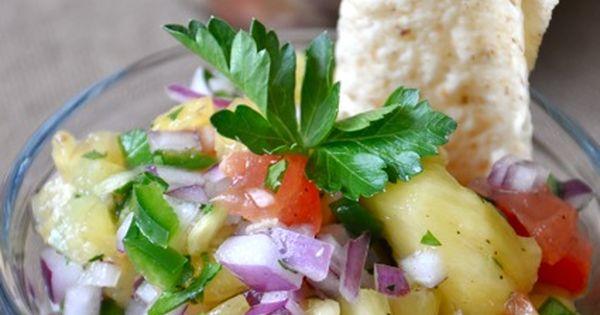 Pineapple Salsa... sweet + salty = yum!
