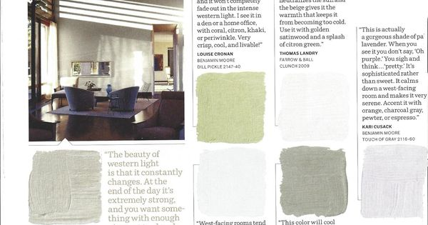 Color West Facing Rooms Benjamin Moore Touch Of Gray Has