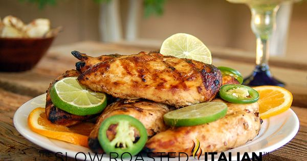 The Slow Roasted Italian - Printable Recipes: Grilled Margarita Chicken with Marinade