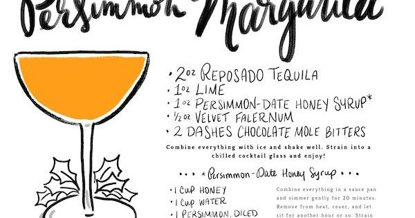 Persimmon Margarita Recipe | Margarita Recipes, Margaritas and Happy ...