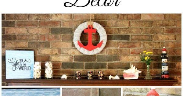 Beach theme fireplace mantel decor harmony and happiness