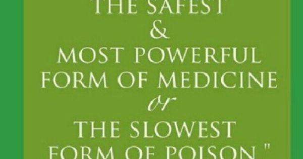 Which do you choose? Medicine or poison?...Ann Wigmore, founder of the modern
