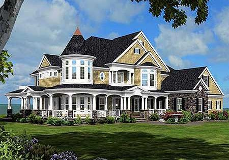 Plan W23500jd Corner Lot Luxury Shingle Style