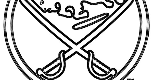 Buffalo Sabres logo NHL coloring page Daddy's pins