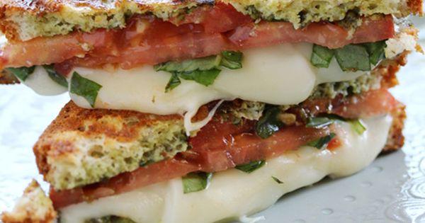Gluten Free Recipes : Caprese [Mozzarella Tomato Basil] Panini