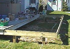How To Extend An Existing Deck Expand An Old Deck Make A Deck Bigger By Adding More Posts And Joists Deck Railing Diy Building A Deck Deck Framing