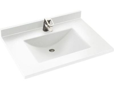 Swan Contour 25 In W X 22 In D Solid Surface Vanity Top With
