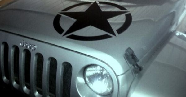 Oscar Mike Hood Star Jeep Wrangler Stickers Jeep Decals Jeep