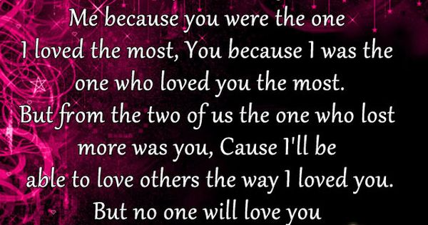 Quotes About Lost Love Pinterest : ... Us Lose? Genae Pinterest I Lost You, Lost and Lost Love Quotes