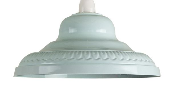 Ceiling Lights Tesco Direct : Vintage retro style gloss duck egg blue metal easy fit
