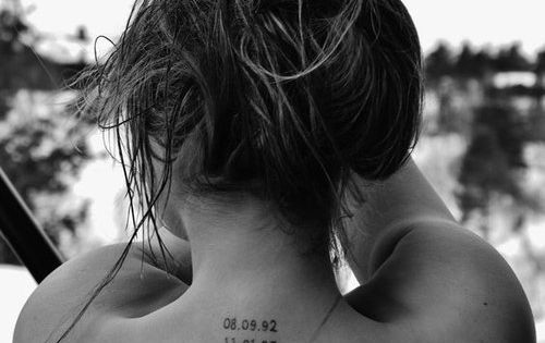 cute date tattoo idea (for everyday she beat cancer)