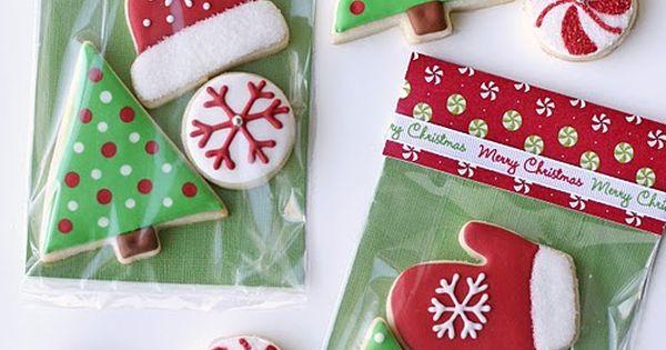 Christmas cookie packaging idea
