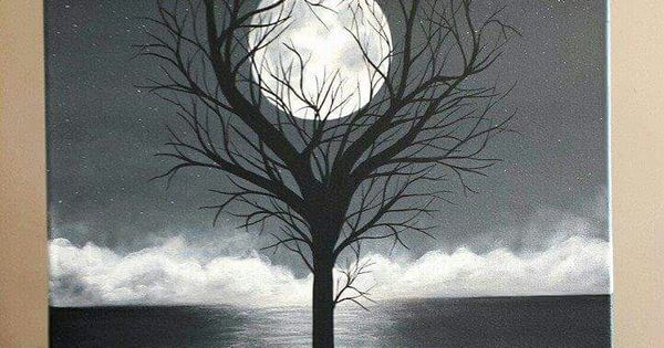 "Painting By J Baldwin ""Unity"" acrylic black and white tree ..."