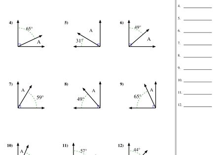 finding complementary angles worksheet math pinterest worksheets math and montessori. Black Bedroom Furniture Sets. Home Design Ideas