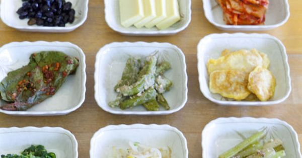 banchan (korean side dishes) One of my favorite things about Korean food