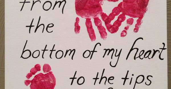 Hand Print Foot Print Art I Love You From The Bottom Of