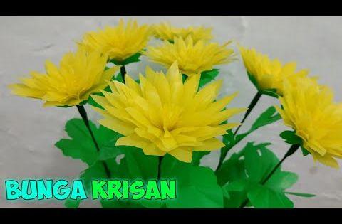 Cara Membuat Bunga Krisan Dari Plastik Kresek Youtube Bunga Bunga Kertas Kreatif