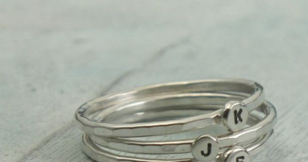 Stackable Letter Ring custom made ring with by KathrynRiechert, $25.00 - cute