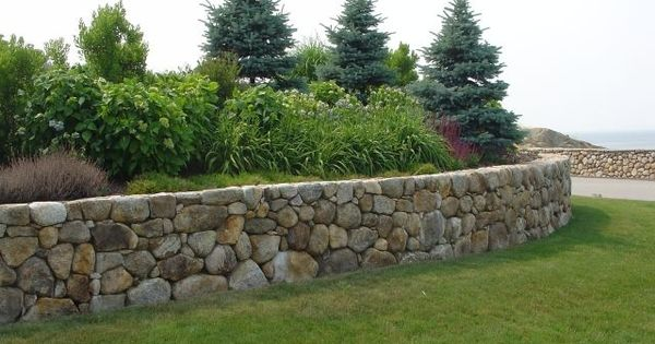 how to build a stone retaining wall without mortar