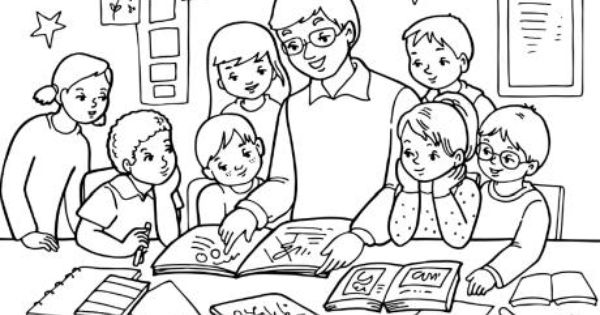 teacher coloring pages just bcause